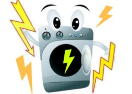 Điện áp trên vỏ của máy giặt