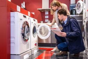 בדיקת מכונת הכביסה בעת הרכישה
