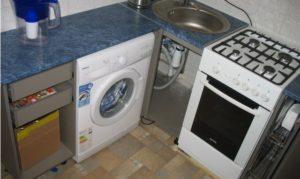 оптимално местоположение на печката и пералнята