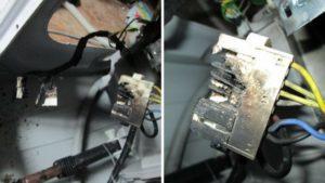 от вибрации, окабеляване и чипове се повреждат и затварят