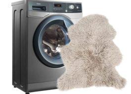 Как да измиете овча кожа в пералня?