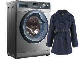 Hogyan lehet mosni egy esőkabátot egy mosógépben?