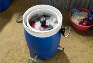 Mesin basuh buatan sendiri