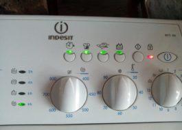 Кодове за грешки на пералнята Indesit чрез мигащ индикатор