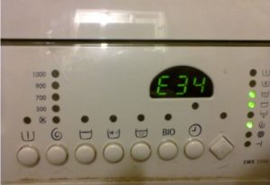 Error E34 in the Electrolux washing machine