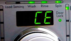 Kesilapan CE pada mesin basuh LG