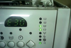 Error E30 in the Electrolux washing machine