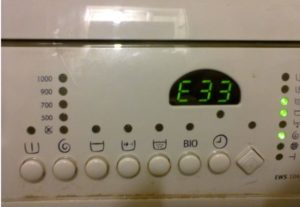 Error E33 in the Electrolux washing machine
