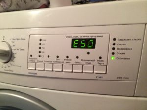 Error E50 in the Electrolux washing machine