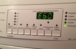 Error E60 in the Electrolux washing machine