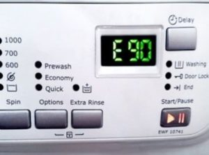 Error E90 in the Electrolux washing machine
