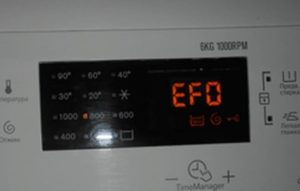 Pogreška EFO-a u perilici rublja Electrolux