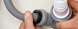 odvojite odvodno crijevo iz kanalizacije