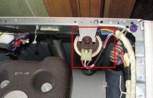 Gdje je tlačni prekidač u LG perilici rublja