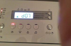 Ralat d07 di mesin basuh Bosch
